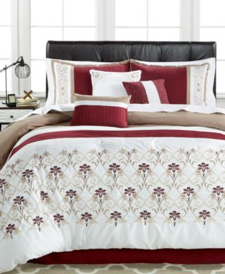 Sherwood 7-Pc. Embroidered Queen Comforter Set