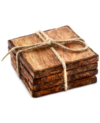 Thirstystone 4-Pc. Square Bark Edged Coasters