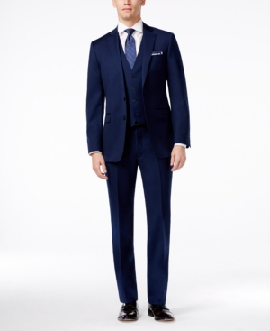 Calvin Klein X Navy Vested Slim-Fit Suit