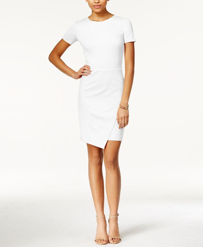 Bar III - Envelope-Hem Sheath Dress
