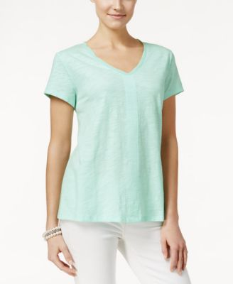 Image of Style & Co. V-Neck Top, Only at Macy's