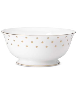 kate spade new york Larabee Road Gold Collection Bone China Serving Bowl
