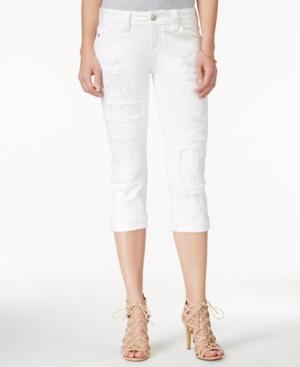 Miss Me Ripped White Wash Capri Jeans