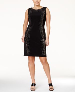 Calvin Klein Plus Size Studded Sheath Dress