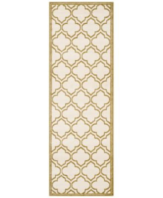 Safavieh Amherst Indoor/Outdoor AMT412A Ivory/Light Green 2'3'' x 7' Runner Area Rug