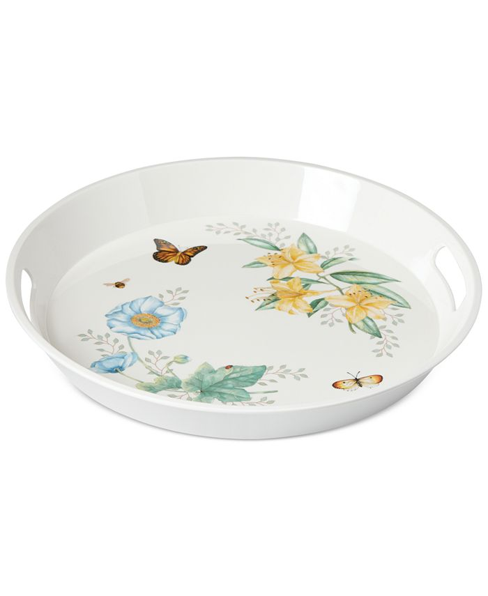 Lenox - Butterfly Meadow Collection Large Round Handled Tray