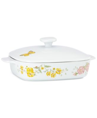 Lenox Butterfly Meadow Collection 2-Pc. Lidded Baker