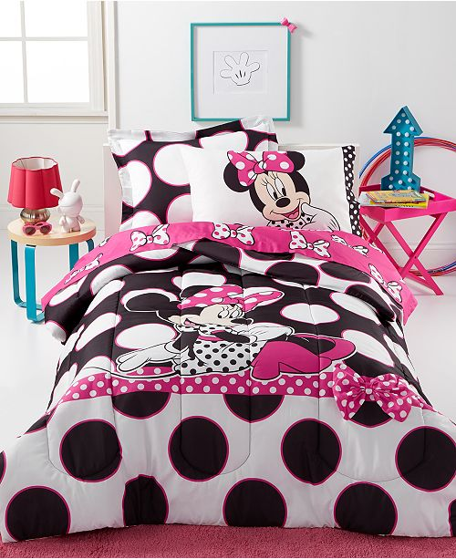 Disney Minnie Dots are the New Black 5 Piece Bedding Collection