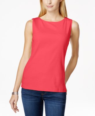 Image of Karen Scott Sleeveless Boat-Neck Tank Top, Only at Macy's
