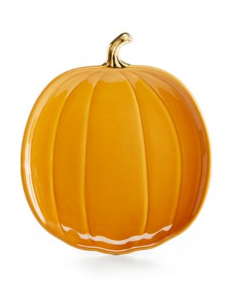 Martha Stewart Collection Harvest Pumpkin Appetizer Plate, Only at Macy's
