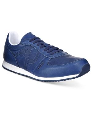 Armani Jeans Men's Logo Trainers Men's Shoes