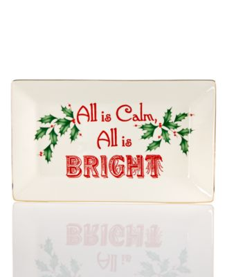 Lenox Home for the Holidays® All is Calm All is Bright Tray