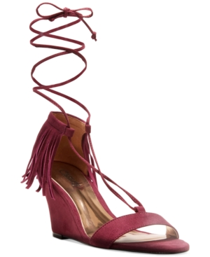 Carlos by Carlos Santana Sandy Lace-Up Fringe Sandals Women's Shoes