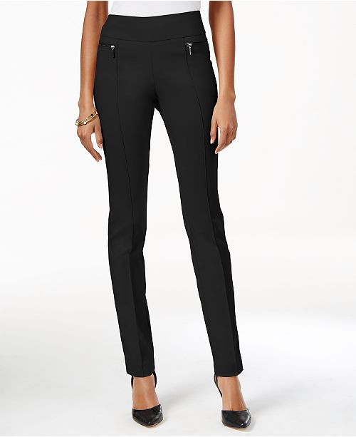 Style Co Petite Pull On Skinny Pants Created For Macy S Reviews Pants Petites Macy S