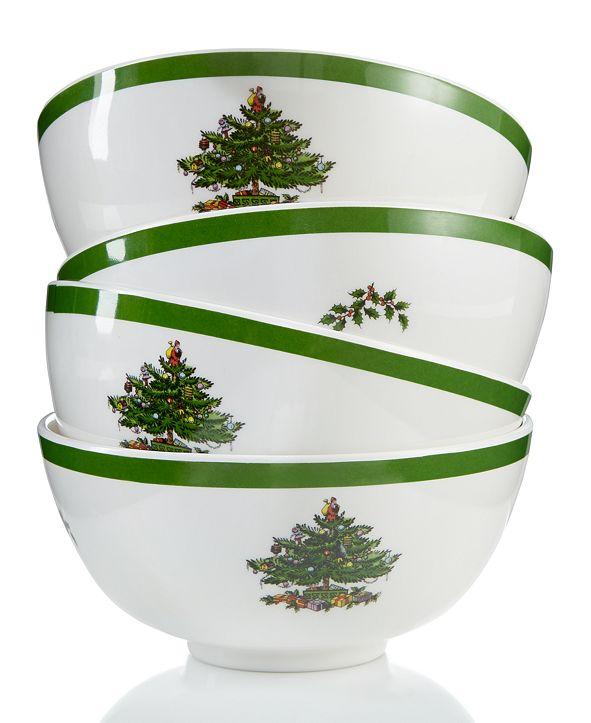 Spode Christmas Tree Melamine Bowl, Set of 4