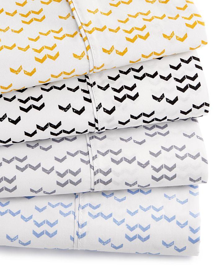 Elite Home - Printed Dart 200 Thread Count Cotton Twin Sheet Set