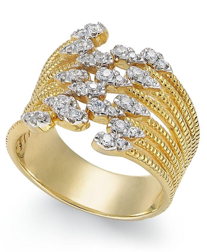Macy's - Diamond Statement Ring (1/3 ct. t.w.) in 14k Gold