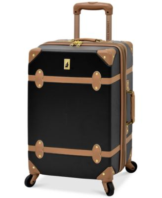 "London Fog Retro 20"" Carry On Expandable Spinner Suitcase"