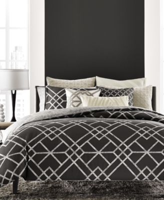 Hotel Collection Modern Airbrush Geo Full/Queen Duvet Cover, Only at Macy's