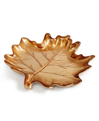 Martha Stewart Collection Harvest Glass Leaf Plate, Only at Macy's