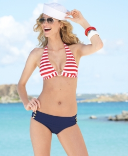 Jessica Simpson Swimwear Line is Smokin! :  retro swimwear monokini one piece bikinis