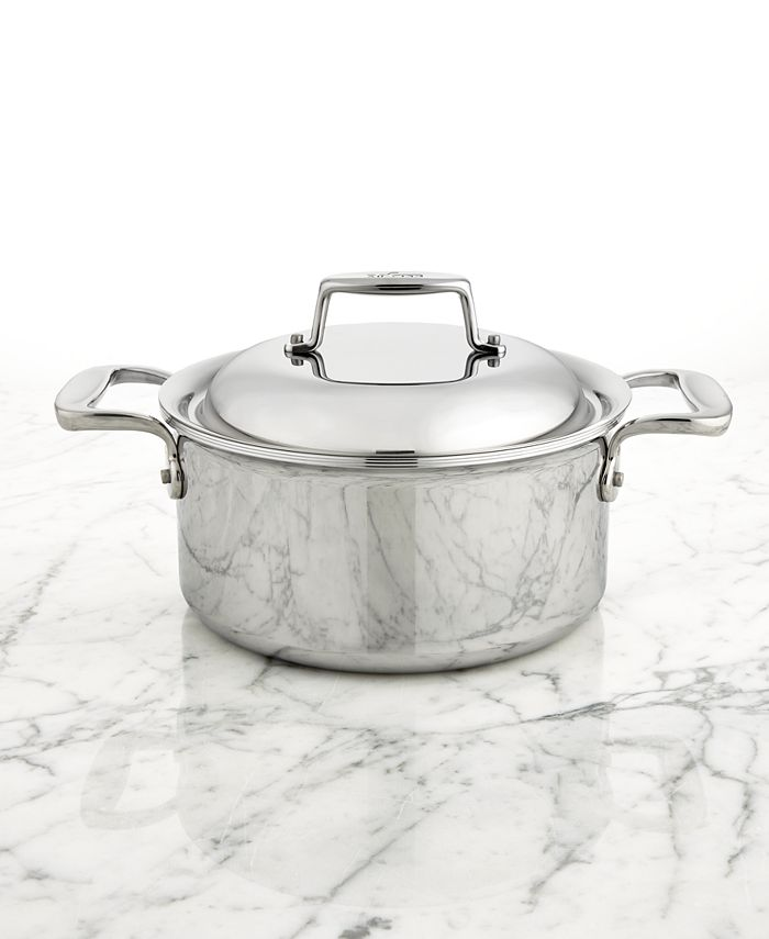 All-Clad - d7 Stainless Steel 3.5-Qt. Round Dutch Oven