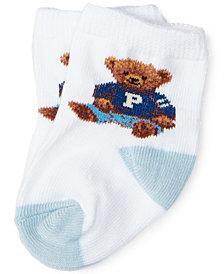Ralph Lauren Baby Boys Teddy Crew Socks Pair