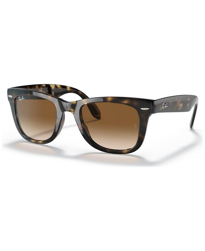 Ray-Ban - Sunglasses, RB4105 Folding Wayfarer 50