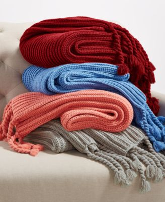 Charter Club Damask Designs Tassel Throw, Only at Macy's