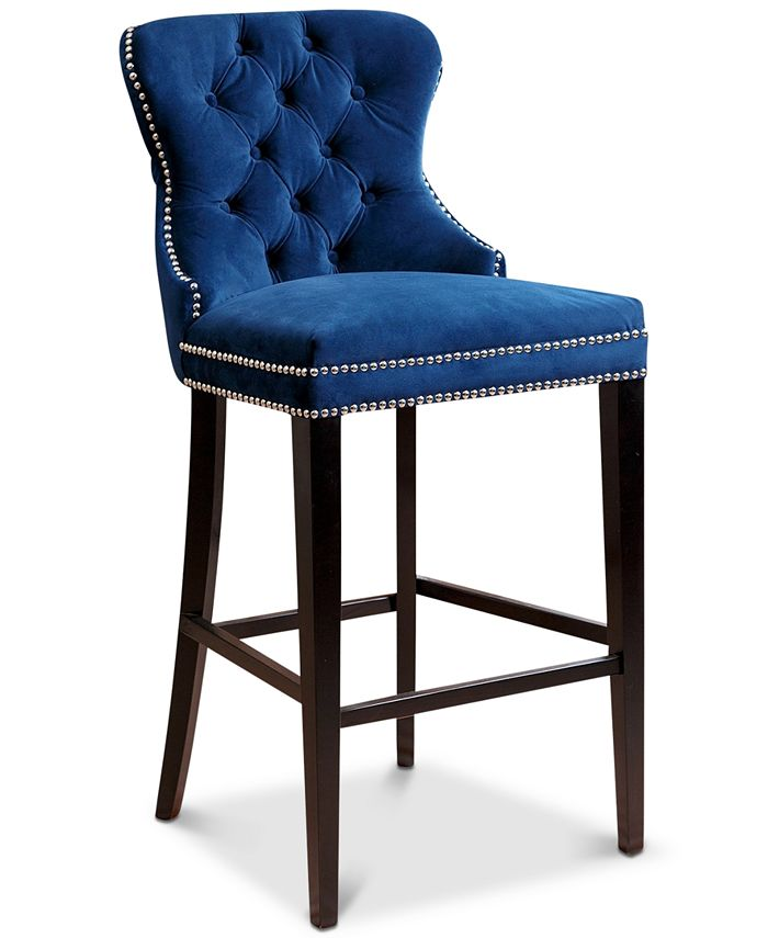 Abbyson Living - Harri Tufted Barstool, Direct Ship