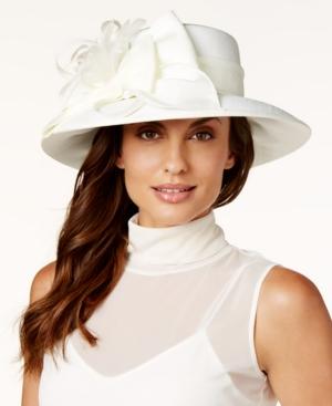 Edwardian Style Hats, Titanic Hats, Derby Hats August Hats Shantung-Look Downbrim Dress Hat $37.24 AT vintagedancer.com