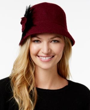 1920s Style Hats August Hats Folk Tale Feather Melton Cloche $15.40 AT vintagedancer.com