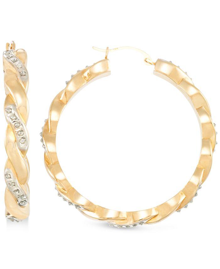 Signature Diamonds - in 14k Gold over Resin Core Diamond and Crystallized Diamond Dust