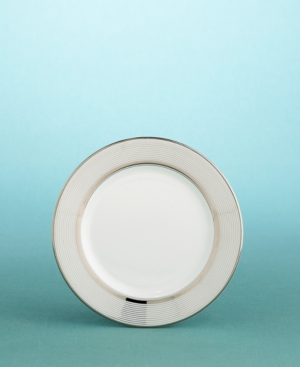 "Martha Stewart Collection with Wedgwood ""Ribbon Stripe"" Bread and Butter Plate in Silver, 6"""