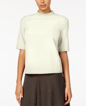 Shop 1960s Style Blouses, Shirts and Tops kensie Short-Sleeve Mock-Turtleneck Top $14.99 AT vintagedancer.com