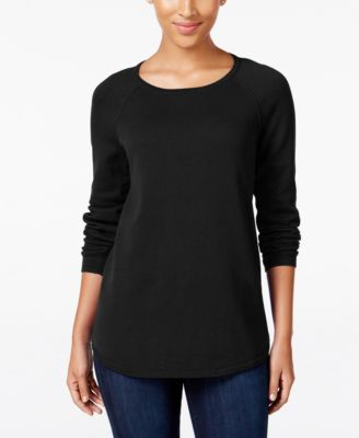 Image of Karen Scott Crew-Neck Sweater, Only at Macy's