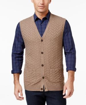 Tasso Elba Mens Chevron Sweater Vest Only at Macys $65.00 AT vintagedancer.com