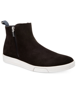 Calvin Klein Men's Barkley Oily Suede Casual Boots Men's Shoes