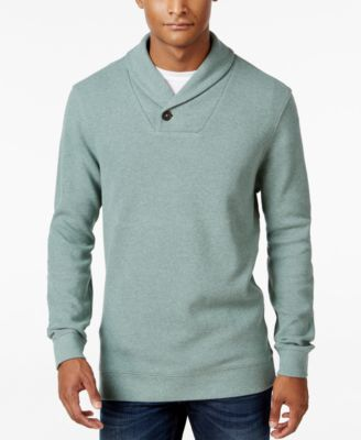 Image of Tasso Elba Men's Textured Shawl-Collar Pullover, Only at Macy's