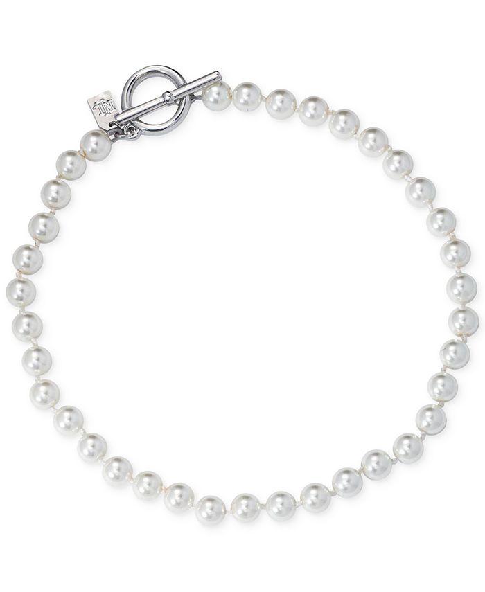 Lauren Ralph Lauren - Silver-Tone Imitation Pearl Statement Necklace