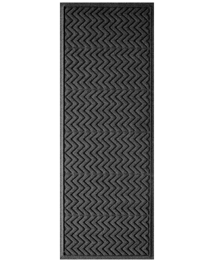 """Bungalow Flooring - Water Guard Chevron Orange 22""""x60"""" Doormat"""
