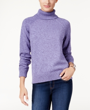 Karen Scott Petite Marled Turtleneck Sweater Only at Macys $46.50 AT vintagedancer.com