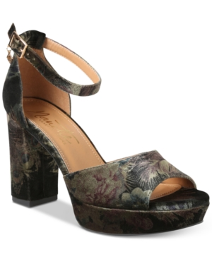 Nanette by Nanette Lepore Viola Two-Piece Platform Block-Heel Sandals Women's Shoes