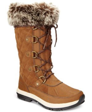 BEARPAW | Bearpaw Women'S Gwyneth Quilted Lace-Up Cold-Weather Waterproof Boots Women'S Shoes | Goxip