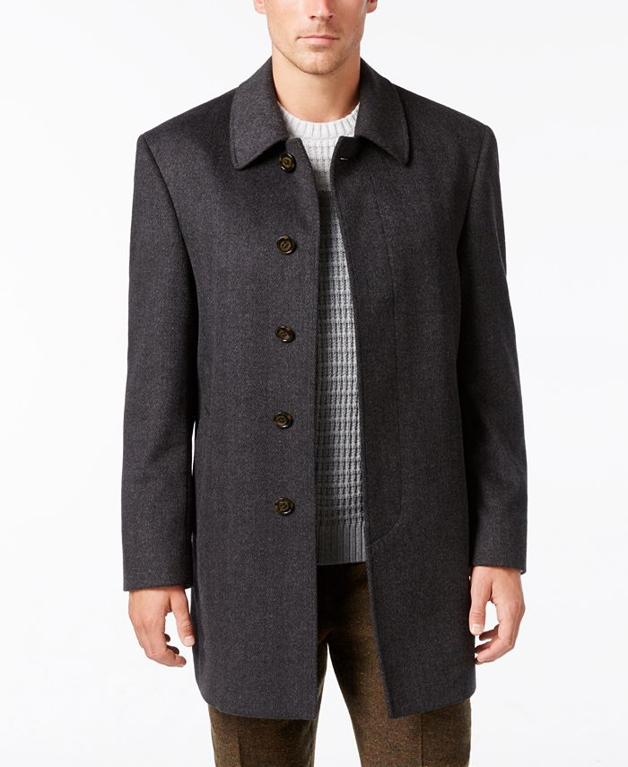 Lauren Ralph Lauren - Coat, Jake Solid Wool-Blend Overcoat