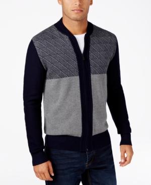 Men's Vintage Style Sweaters – 1920s to 1960s Sean John Mens Big  Tall Jacquard Full-Zip Cardigan $74.50 AT vintagedancer.com