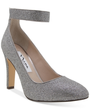 Nina Ivelis Ankle-Stap Evening Pumps Women's Shoes
