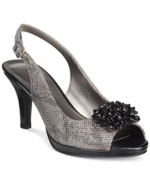 Karen Scott Briant Embellished Peep-Toe Pumps, Only at Macy's Women's Shoes