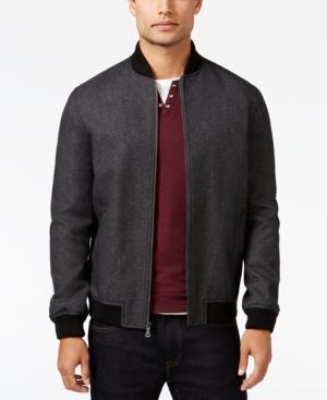 Men's Vintage Style Coats and Jackets Inc International Concepts Mens Textured Colorblocked Moto Jacket Only at Macys $99.99 AT vintagedancer.com