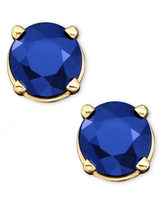 14k Gold Sapphire Earrings (1 ct. t.w.)